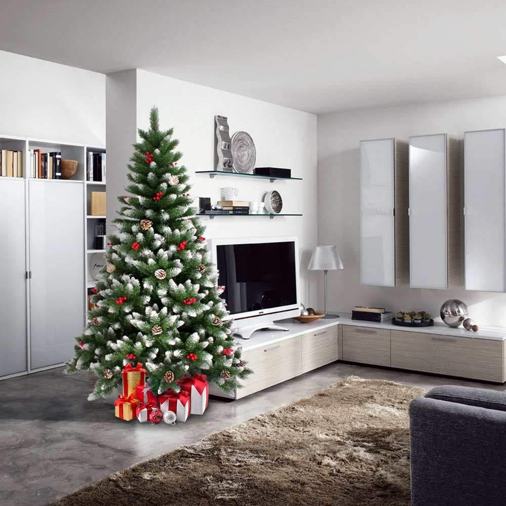 Decorazioni Natalizie A Poco Prezzo.Oslo Albero Di Natale Artificiale 240 Cm Addobbato Con Decorazioni