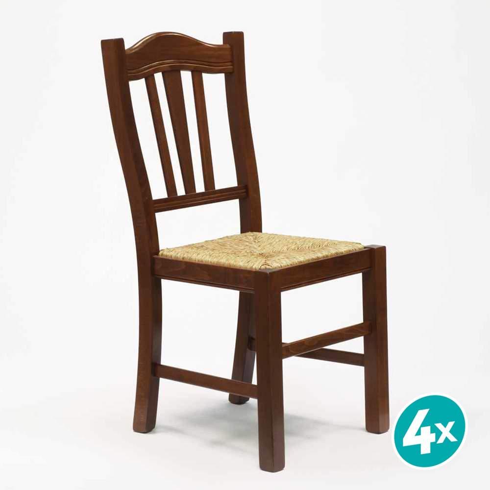 Dettagli su 4 Sedie in legno SILVANA PAGLIA II Scelta