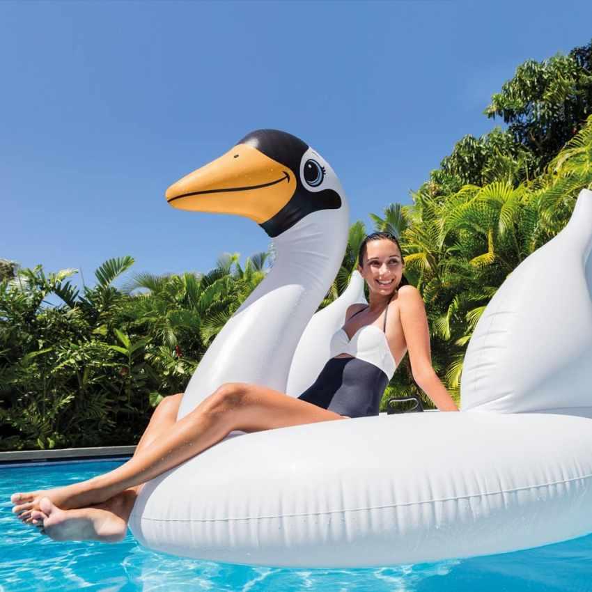 Intex 56287 cygne géant gonflable flottant piscine fêtes pool party  SWAN ISLAND - indoor