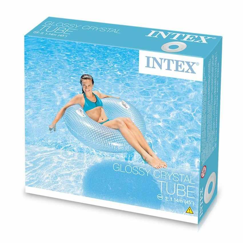 Bouée transparente Intex 56264 matelas piscine Glossy Crystal - image