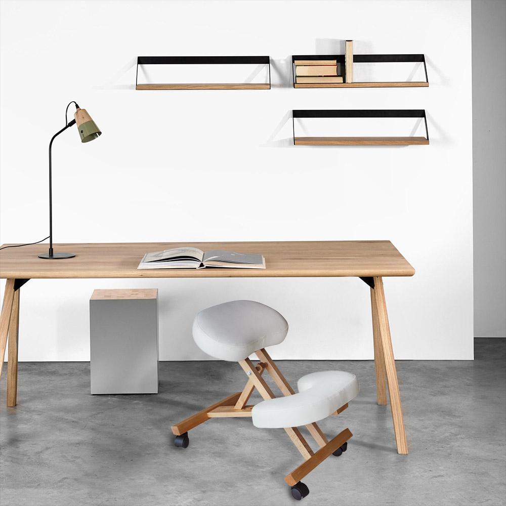 Chaise-orthopedique-de-bureau-en-bois-confortable-siege-ergonomique-BALANCEWOOD miniature 15