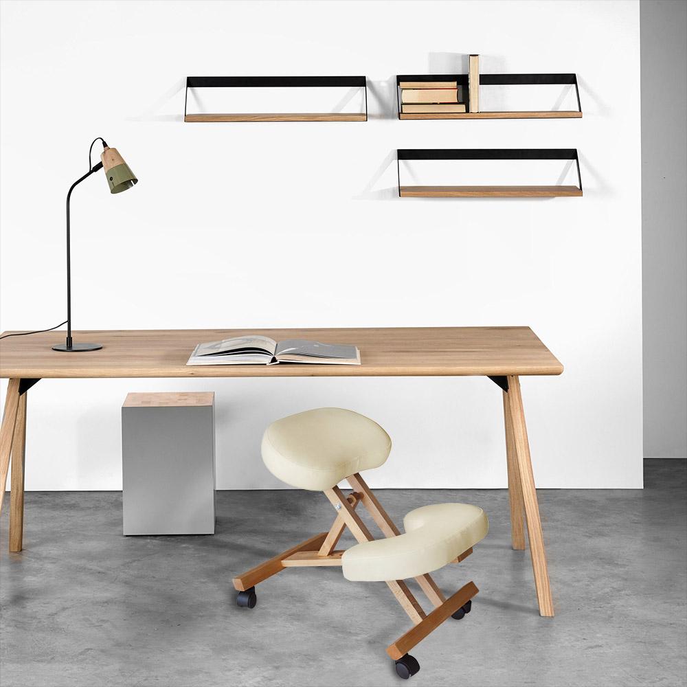 Chaise-orthopedique-de-bureau-en-bois-confortable-siege-ergonomique-BALANCEWOOD miniature 20