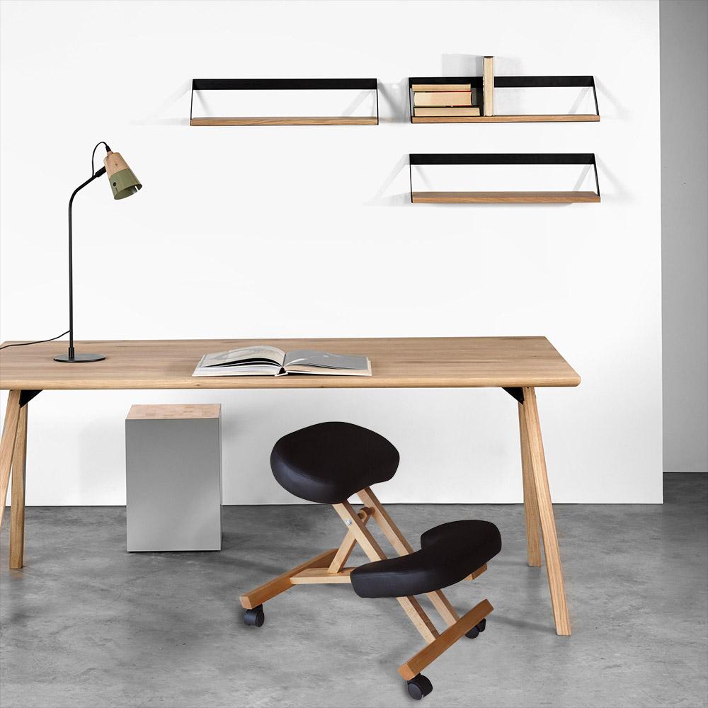 Chaise-orthopedique-de-bureau-en-bois-confortable-siege-ergonomique-BALANCEWOOD miniature 26
