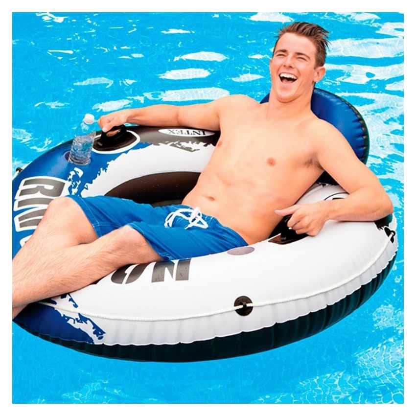 bou e gonflable river run pour piscine lac plage intex 58825. Black Bedroom Furniture Sets. Home Design Ideas