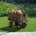 Garden trolley for transporting wood grass 400kg SHIRE - scontato