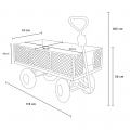 Garden trolley for transporting wood grass 400kg SHIRE - prezzo