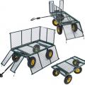 Garden trolley for transporting wood grass 400kg SHIRE - arredamento