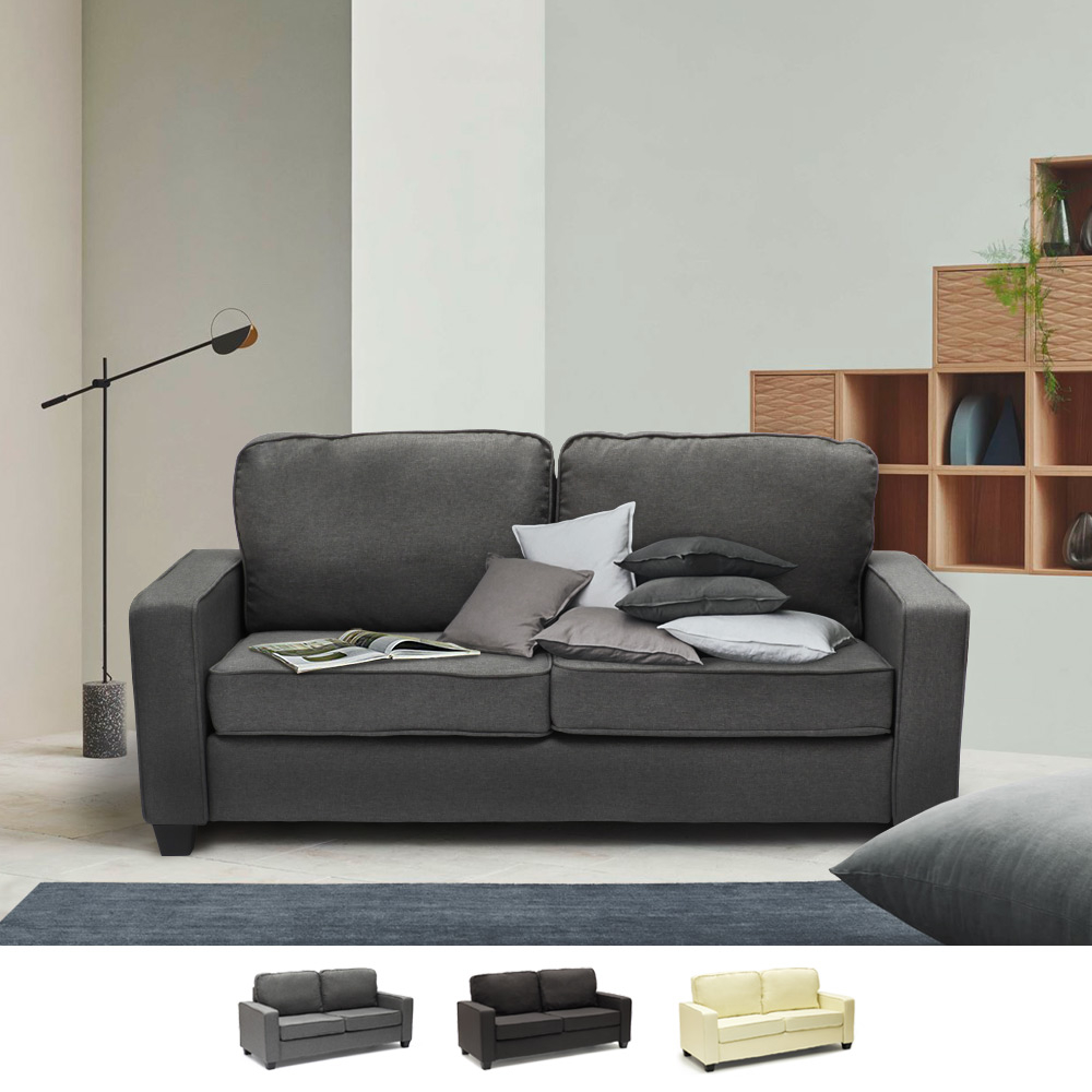 Divano 2 posti in tessuto per salotto e sale d'attesa design RUBINO - photo