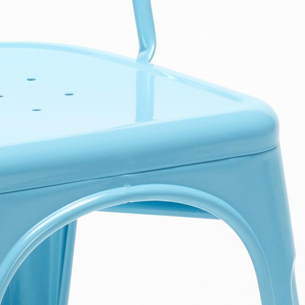 miniatura 52 - Sedie Tolix industrial metallo e acciaio per cucina e bar Steel One