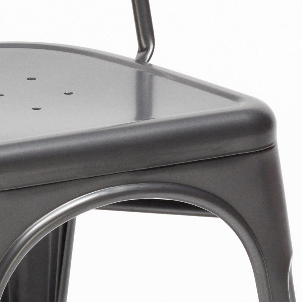 miniatura 43 - Sedie Tolix industrial metallo e acciaio per cucina e bar Steel One