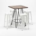 Set tavolo alto e 4 sgabelli in metallo stile Tolix industrial KIPS BAY per pub - forniture