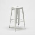 Set tavolo alto e 4 sgabelli in metallo stile Tolix industrial KIPS BAY per pub - new