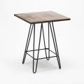 Set tavolo alto e 4 sgabelli in metallo stile Tolix industrial KIPS BAY per pub - outdoor