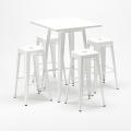 Tavolo alto e 4 sgabelli in metallo design Tolix industriale UNION SQUARE per pub - indoor
