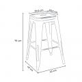 Tavolo alto e 4 sgabelli in metallo design Tolix industriale UNION SQUARE per pub - promo