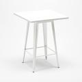 Tavolo alto e 4 sgabelli in metallo design Tolix industriale UNION SQUARE per pub - discount