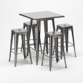 Set Tavolo alto e 4 sgabelli in metallo design Tolix industriale GOWANUS - best