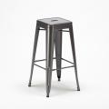 Set Tavolo alto e 4 sgabelli in metallo design Tolix industriale GOWANUS - forniture