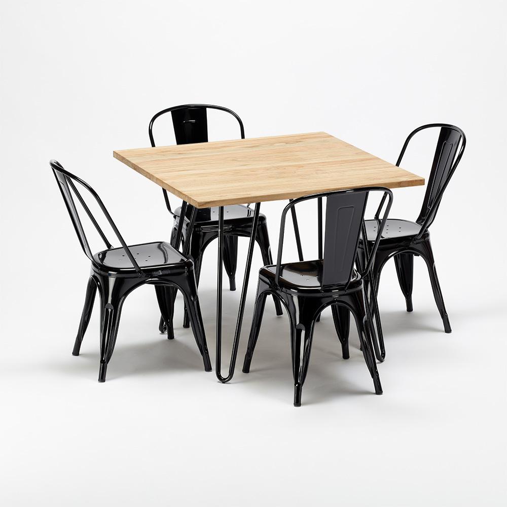 Tavolo Quadrato Bianco Con Sedie Nere  2022