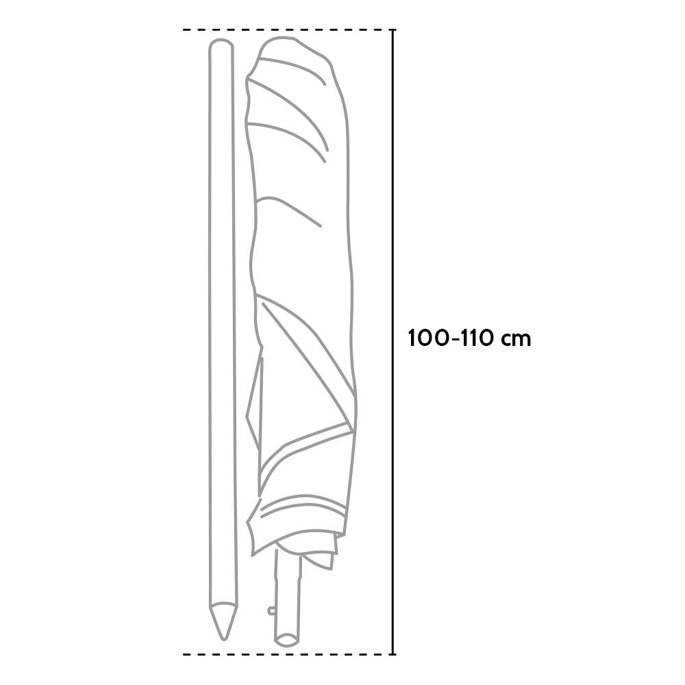 miniature 41 - Parasol de plage en aluminium 180 cm de diamètre avec coupe vent et protection u