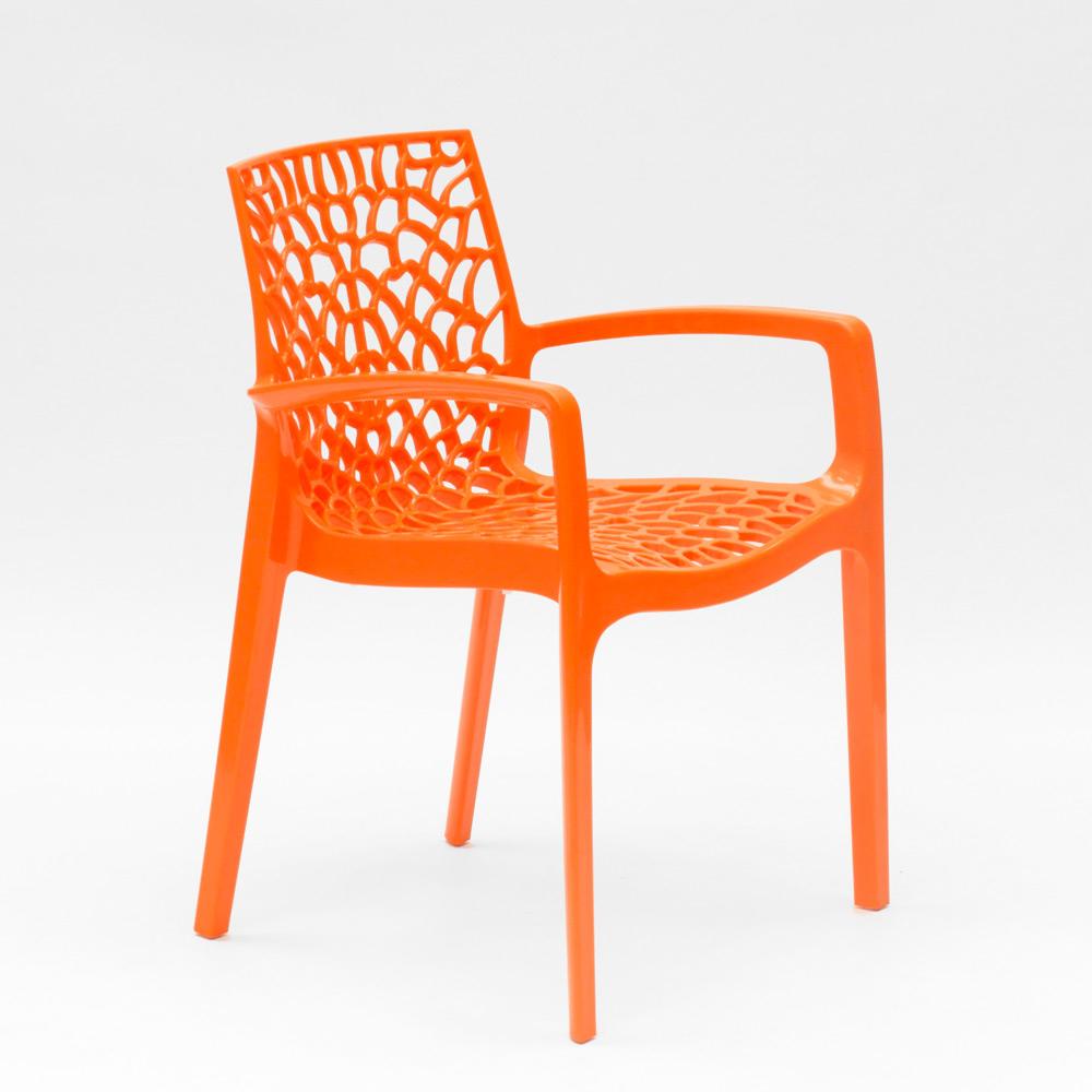 miniatuur 26 - Polypropyleen stoelen armleuningen tuin cafès Grand Soleil Gruvyer Arm