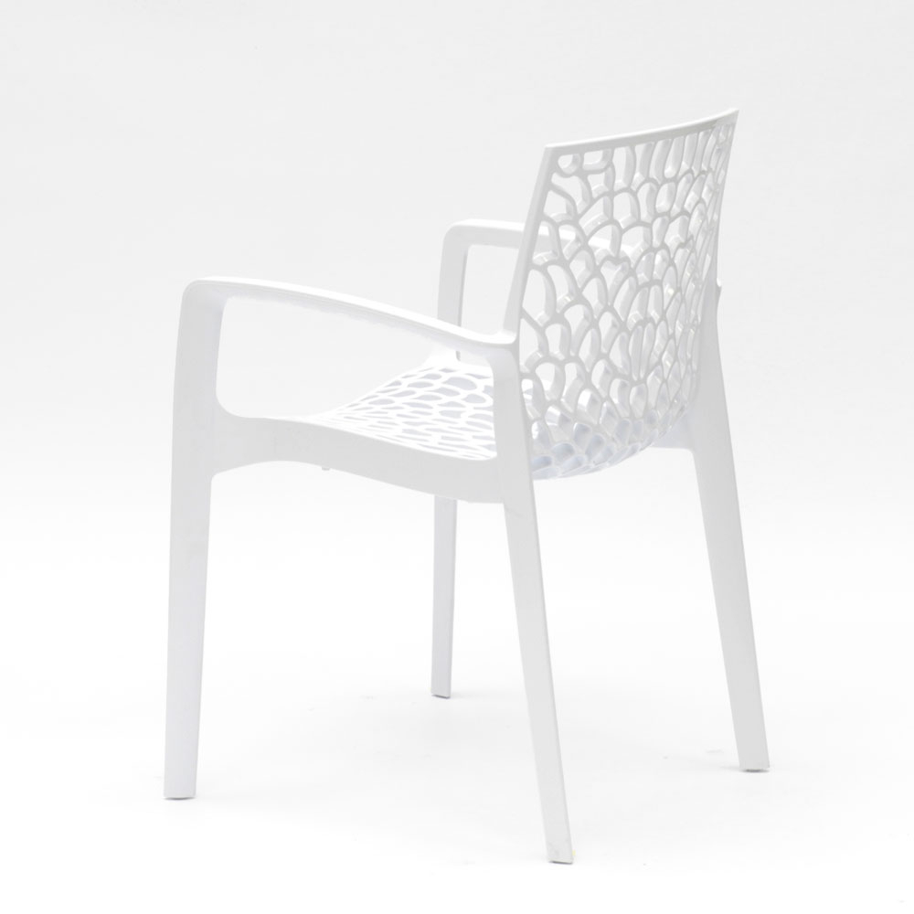 miniatuur 15 - Polypropyleen stoelen armleuningen tuin cafès Grand Soleil Gruvyer Arm