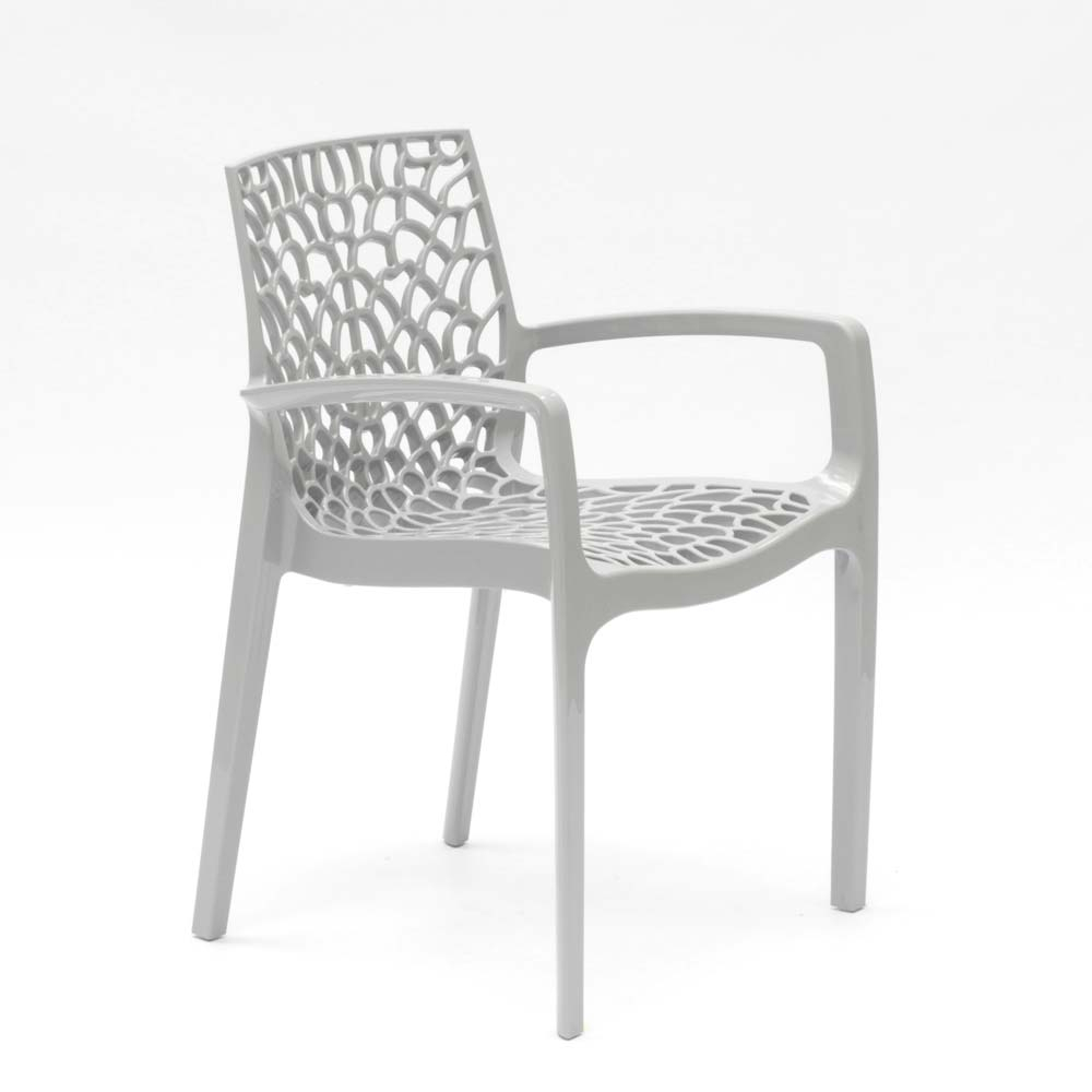 miniatuur 38 - Polypropyleen stoelen armleuningen tuin cafès Grand Soleil Gruvyer Arm