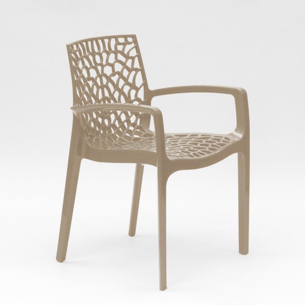 miniatuur 68 - Polypropyleen stoelen armleuningen tuin cafès Grand Soleil Gruvyer Arm