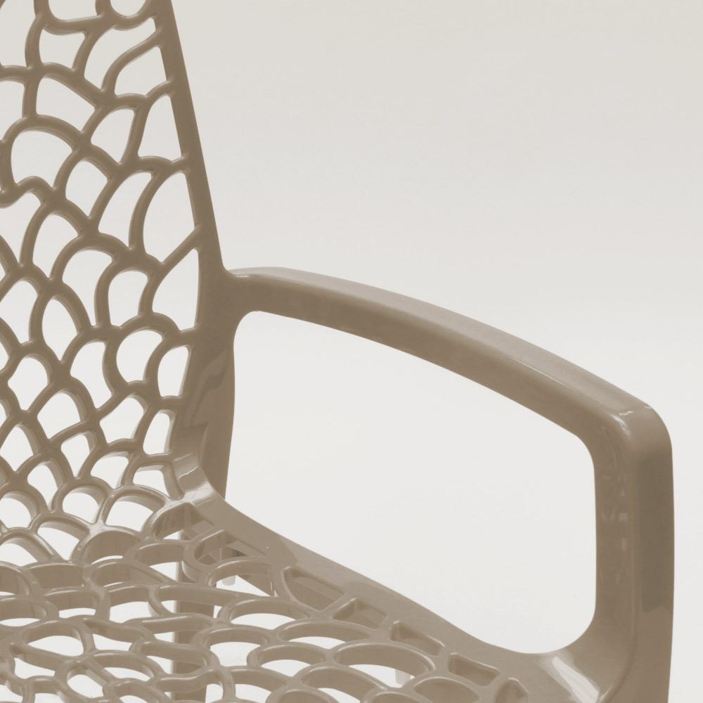 miniatuur 70 - Polypropyleen stoelen armleuningen tuin cafès Grand Soleil Gruvyer Arm