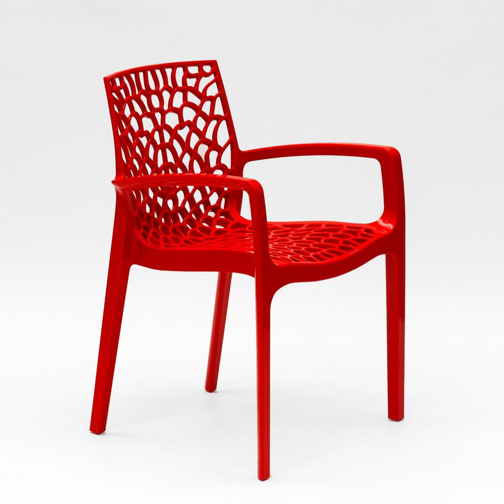 miniatuur 44 - Polypropyleen stoelen armleuningen tuin cafès Grand Soleil Gruvyer Arm