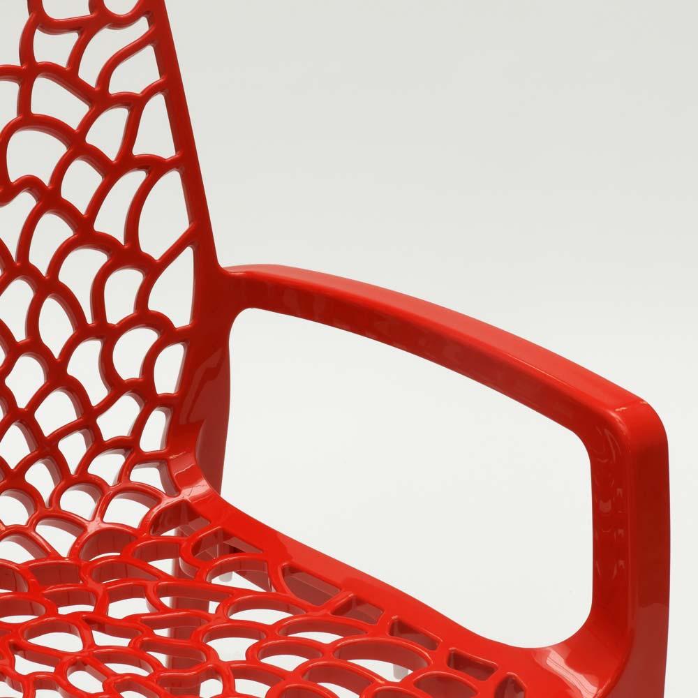 miniatuur 46 - Polypropyleen stoelen armleuningen tuin cafès Grand Soleil Gruvyer Arm