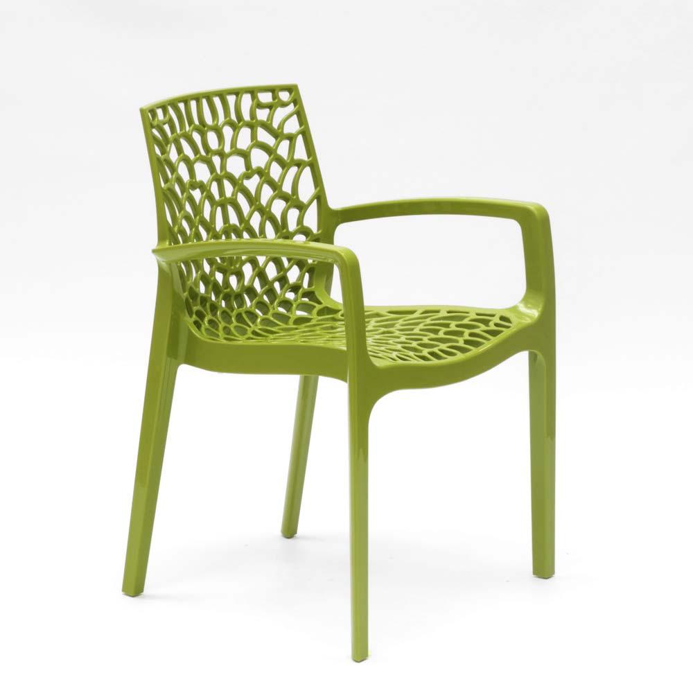 miniatuur 50 - Polypropyleen stoelen armleuningen tuin cafès Grand Soleil Gruvyer Arm