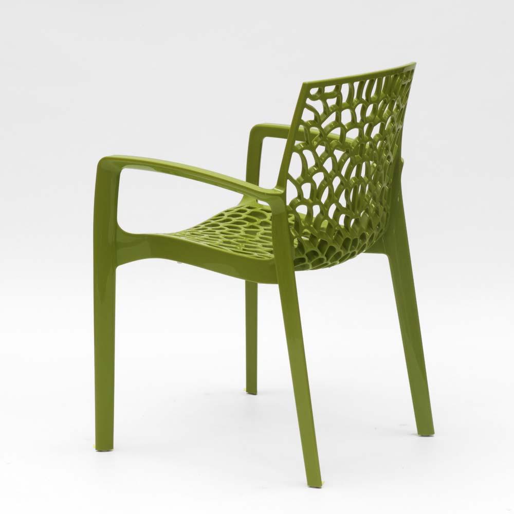 miniatuur 51 - Polypropyleen stoelen armleuningen tuin cafès Grand Soleil Gruvyer Arm