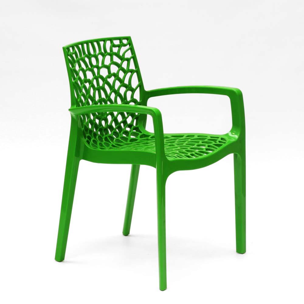 miniatuur 56 - Polypropyleen stoelen armleuningen tuin cafès Grand Soleil Gruvyer Arm