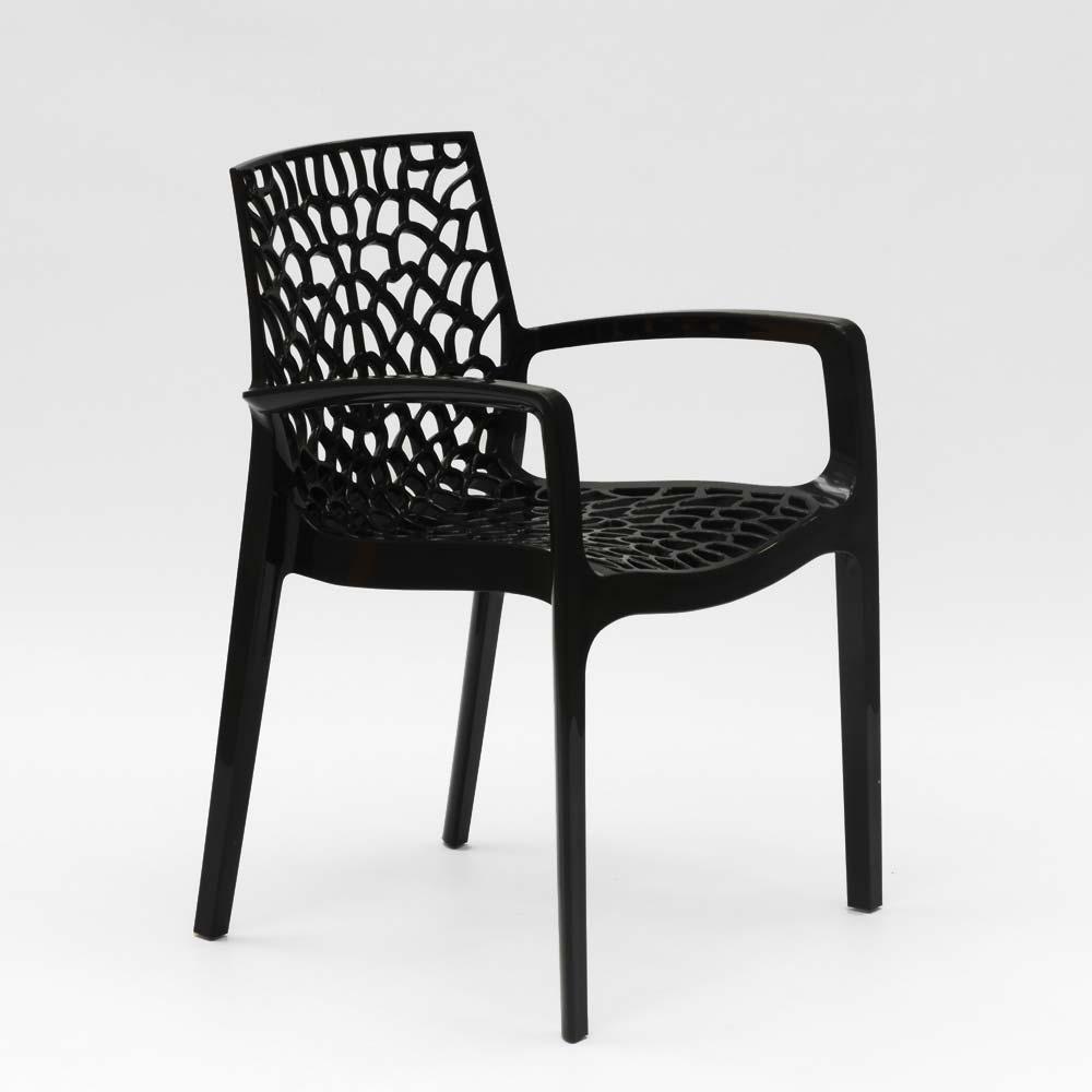 miniatuur 20 - Polypropyleen stoelen armleuningen tuin cafès Grand Soleil Gruvyer Arm
