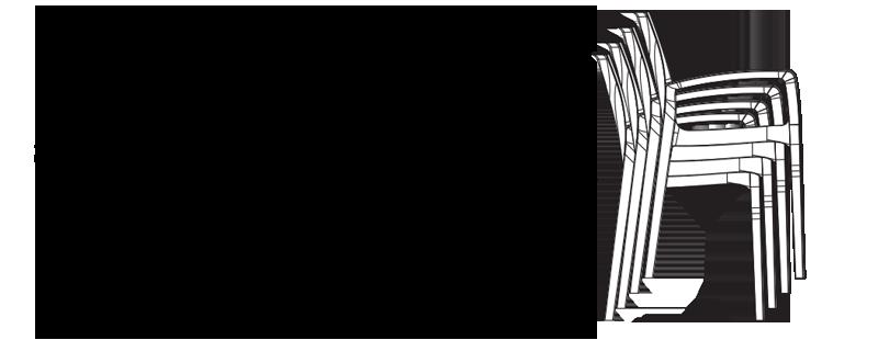 miniatuur 60 - Polypropyleen stoelen armleuningen tuin cafès Grand Soleil Gruvyer Arm