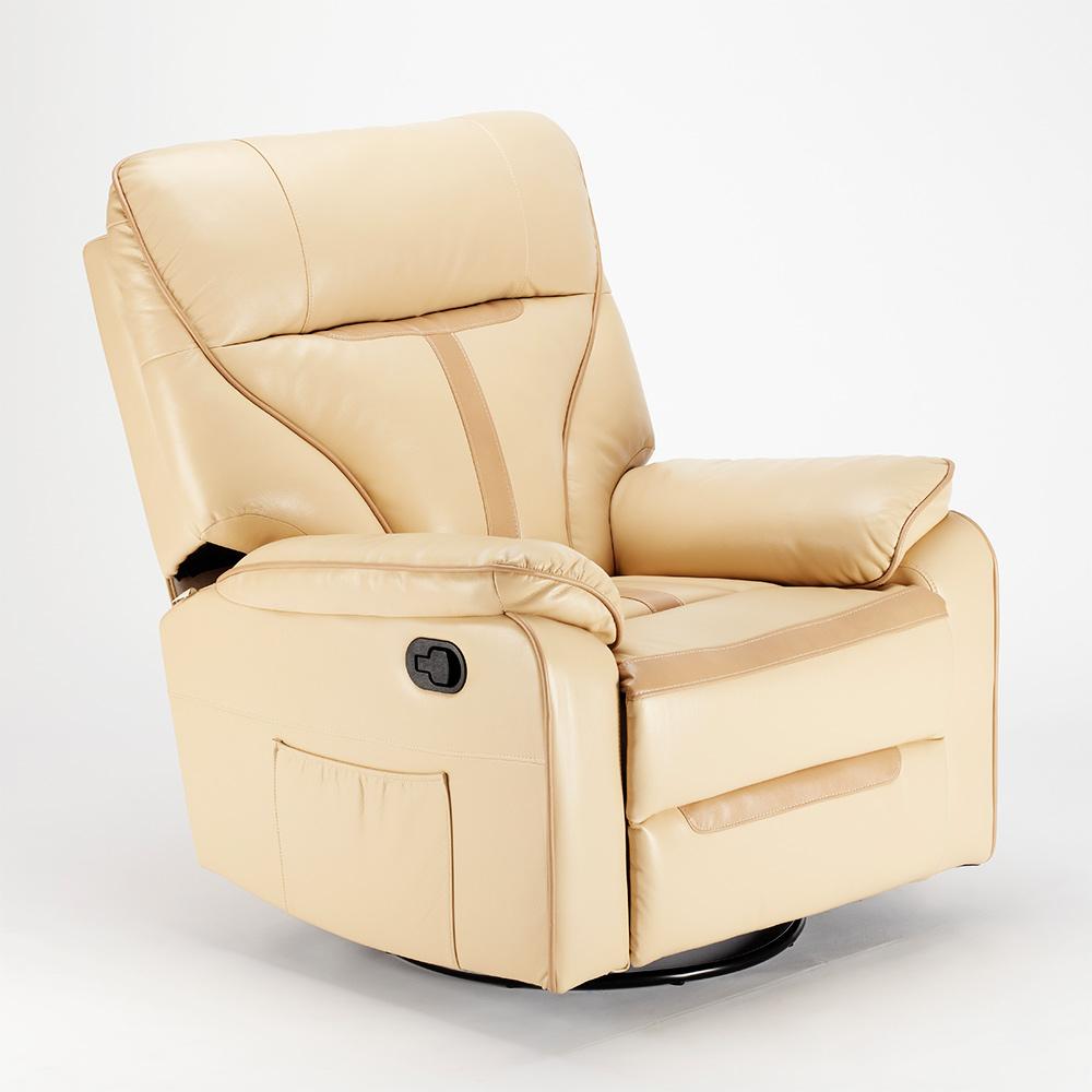 miniature 14 - Poltrona Relax Reclinabile Dondolo Poggiapiedi Rotazione 360 Sissi