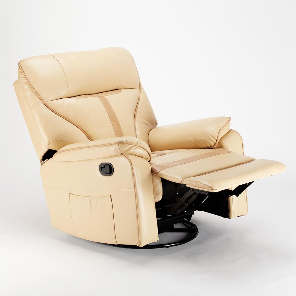 miniature 15 - Poltrona Relax Reclinabile Dondolo Poggiapiedi Rotazione 360 Sissi