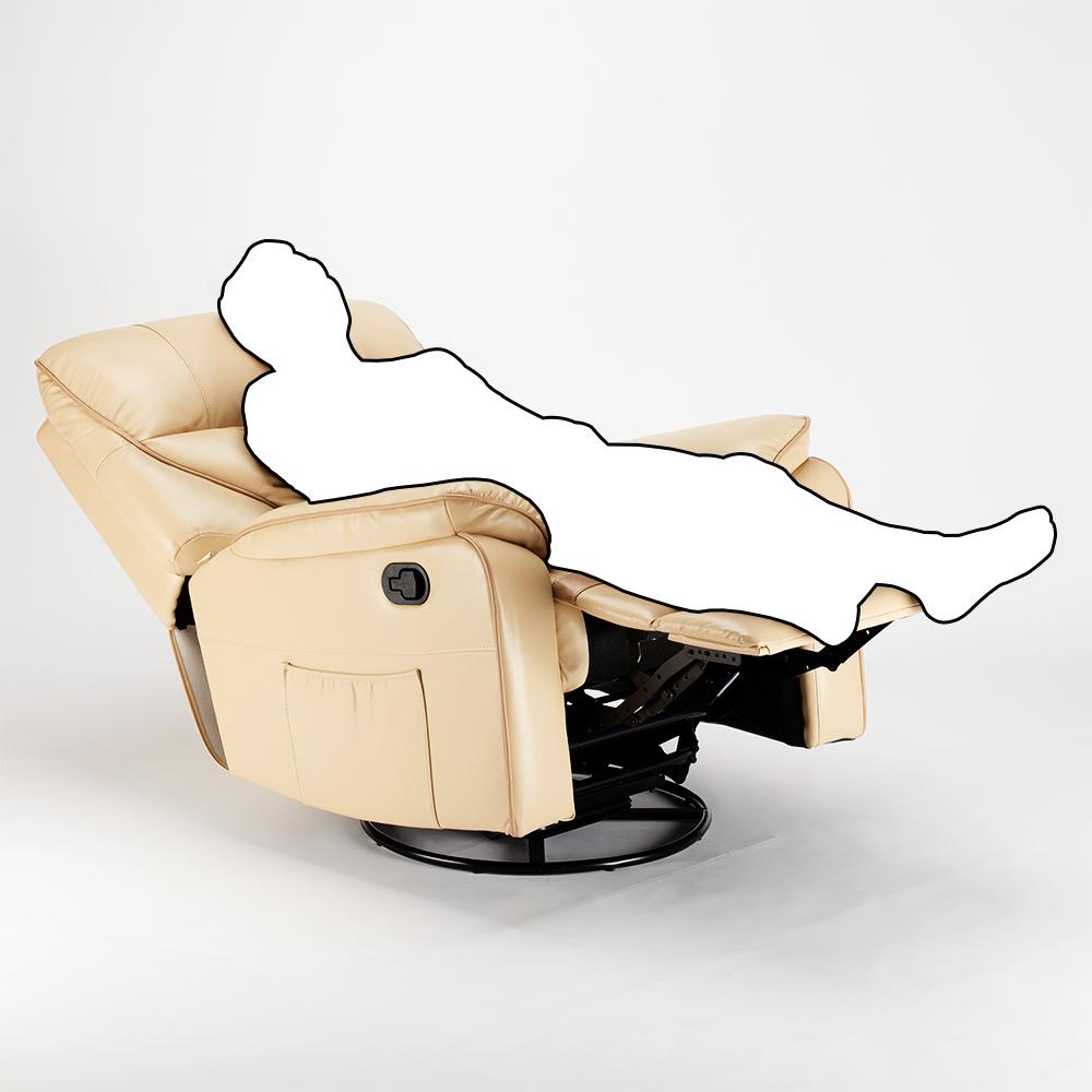 miniature 16 - Poltrona Relax Reclinabile Dondolo Poggiapiedi Rotazione 360 Sissi