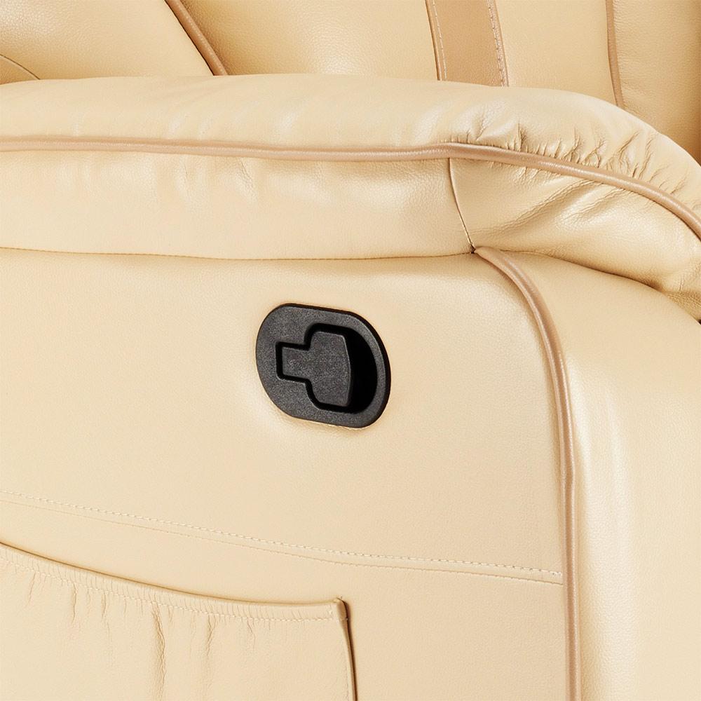 miniature 17 - Poltrona Relax Reclinabile Dondolo Poggiapiedi Rotazione 360 Sissi