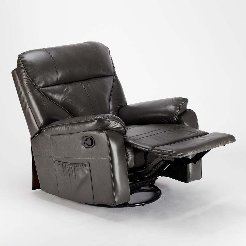 miniature 33 - Poltrona Relax Reclinabile Dondolo Poggiapiedi Rotazione 360 Sissi
