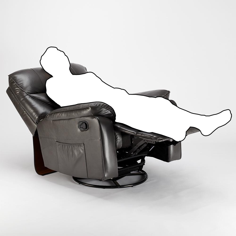 miniature 34 - Poltrona Relax Reclinabile Dondolo Poggiapiedi Rotazione 360 Sissi