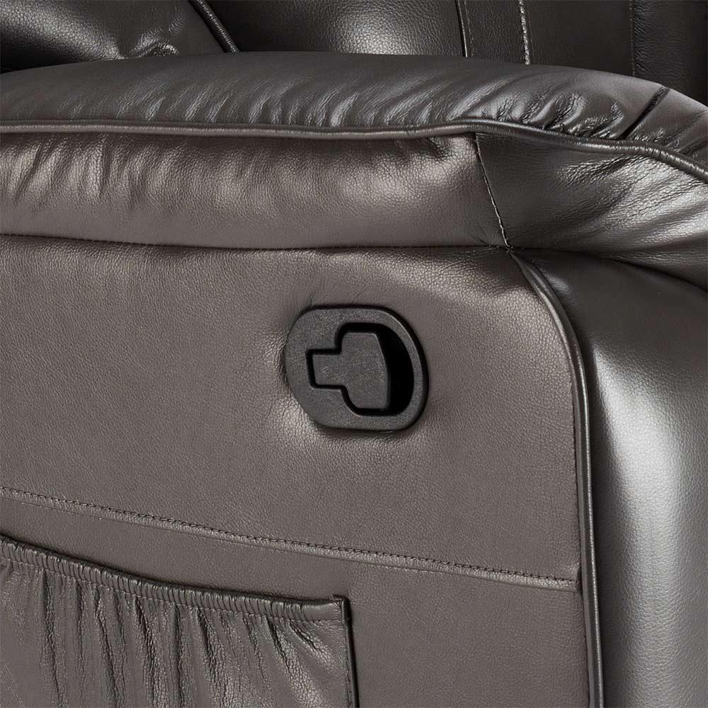 miniature 35 - Poltrona Relax Reclinabile Dondolo Poggiapiedi Rotazione 360 Sissi
