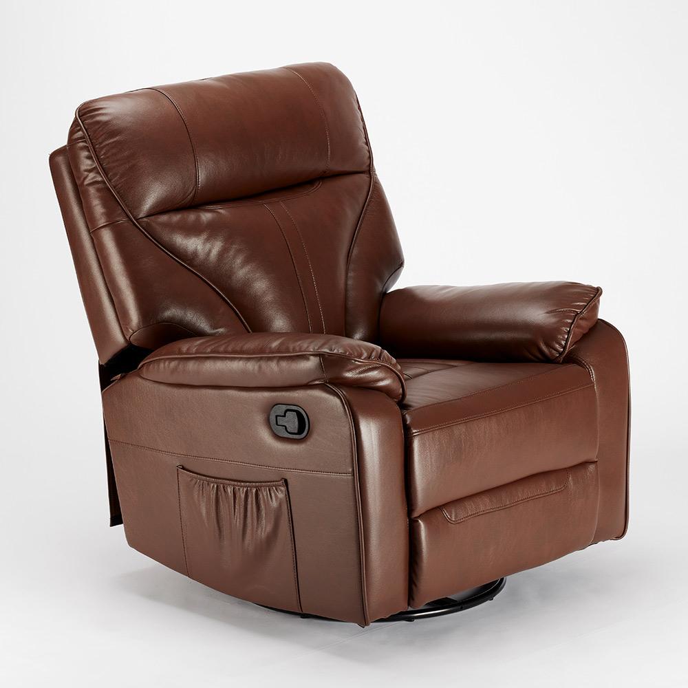 miniature 41 - Poltrona Relax Reclinabile Dondolo Poggiapiedi Rotazione 360 Sissi