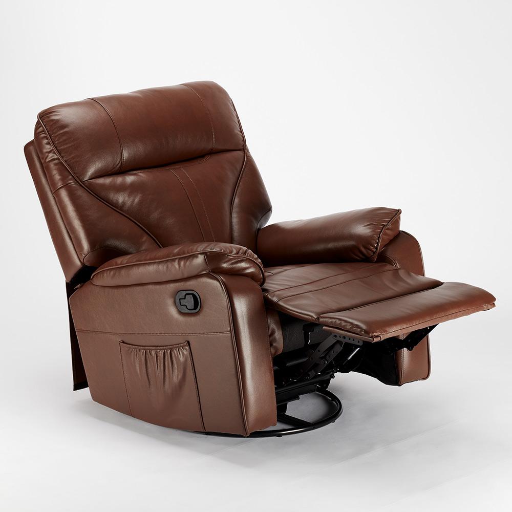 miniature 42 - Poltrona Relax Reclinabile Dondolo Poggiapiedi Rotazione 360 Sissi