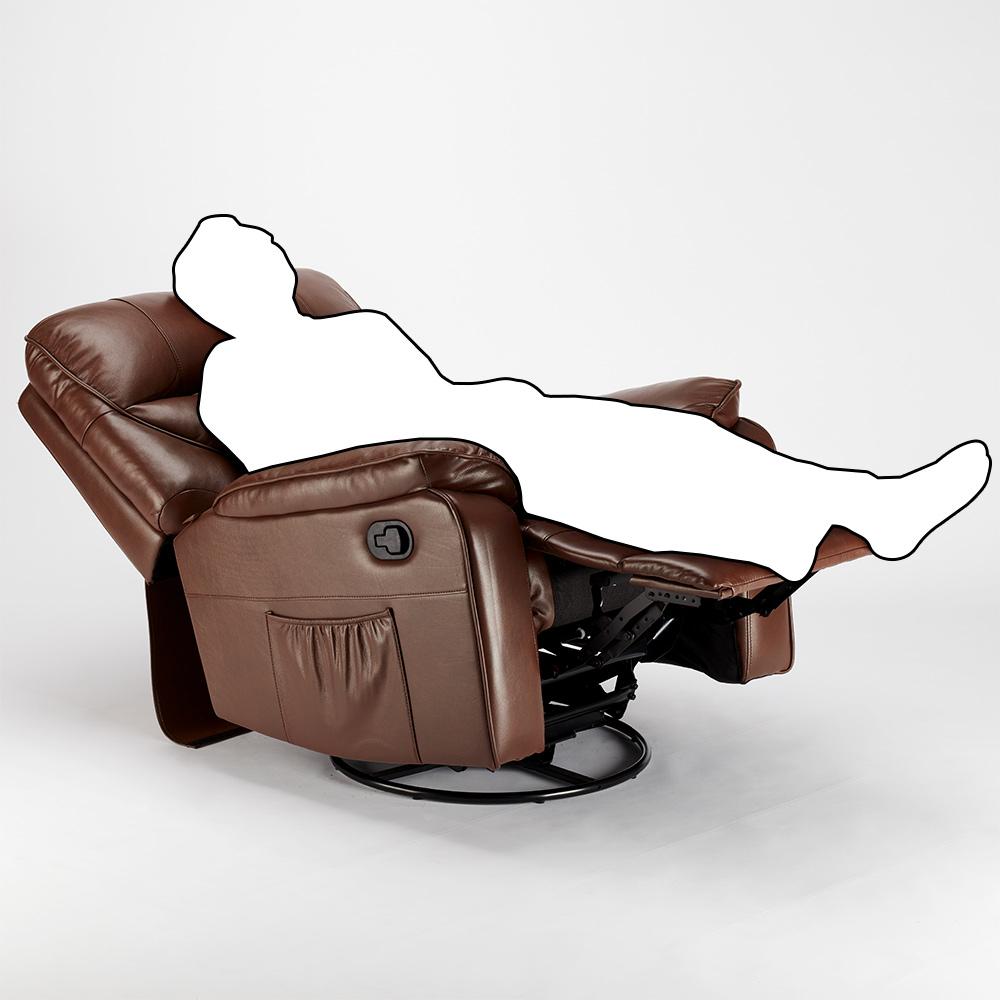 miniature 43 - Poltrona Relax Reclinabile Dondolo Poggiapiedi Rotazione 360 Sissi