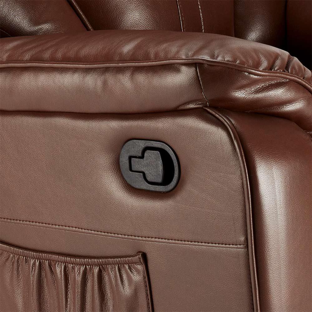miniature 44 - Poltrona Relax Reclinabile Dondolo Poggiapiedi Rotazione 360 Sissi