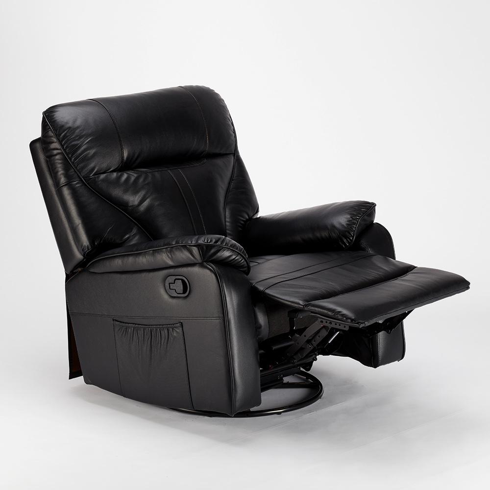 miniature 24 - Poltrona Relax Reclinabile Dondolo Poggiapiedi Rotazione 360 Sissi