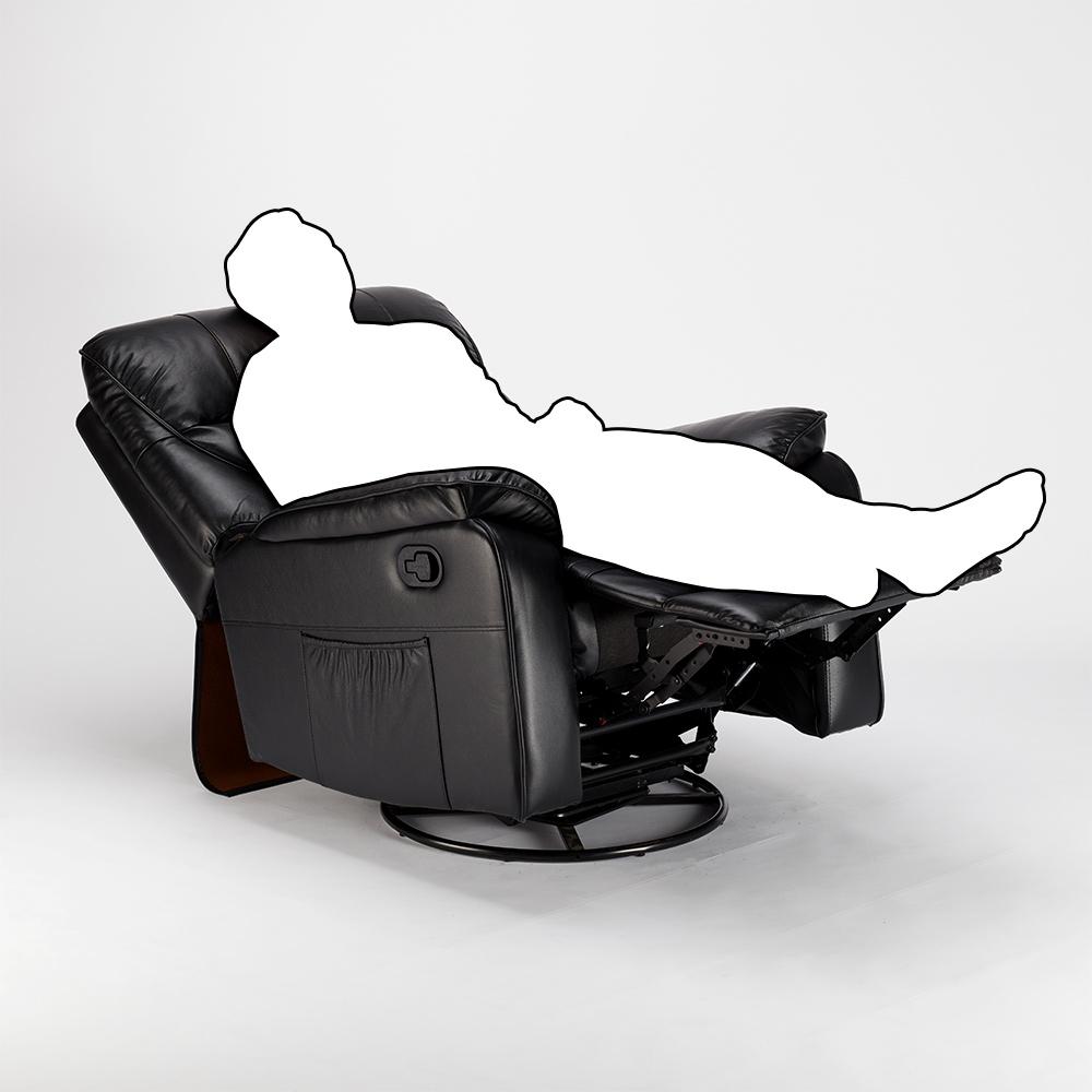 miniature 25 - Poltrona Relax Reclinabile Dondolo Poggiapiedi Rotazione 360 Sissi