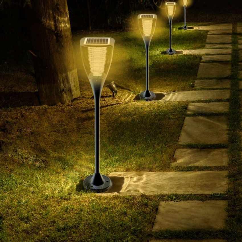 Reverbere Lampe Solaire Jardin Led Exterieure Villa